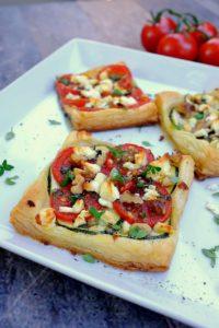 Blätterteig-Zucchini-Feta-Gebäck