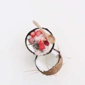 Kokos Früchte Smoothie